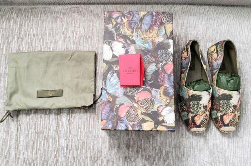 Valentino Garavani Camu Butterfly Esp Canvas Shoes Size 38