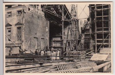 (F21963) Orig. Foto Berlin, zerstörte Staatsoper, Detail 1952