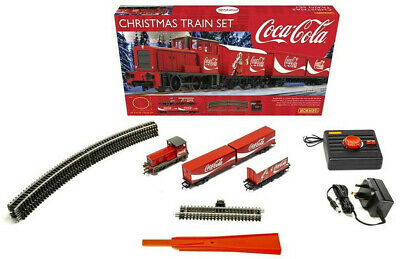 Hornby Coca-Cola Christmas OO Gauge Electric Model Train Set R1233
