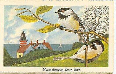 CHICKADEE-MASSACHUSETTS STATE BIRD-1968-(BIRDS-381)