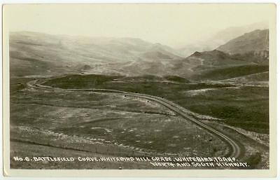 C1930s Whitebird Idaho Battlefield Curve North And South Highway Real Photo