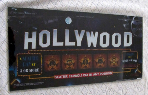 "Very Rare ""Hollywood"" Slot Machine Belly Glass"