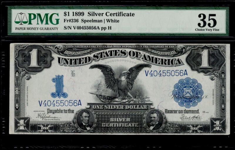"SC 1899 $1  ""Black Eagle"" PMG 35 Problem-Free"