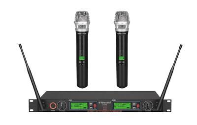 Professional Quality 2X800 Channel Uhf Diversity Wireless Microphone Mic System
