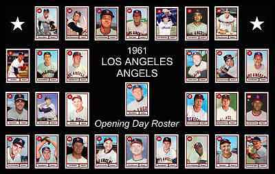 1961 LOS ANGELES ANGELS Opening Day POSTER Man Cave Decor Fan Birthday Gift 61 (Angels Decorations)