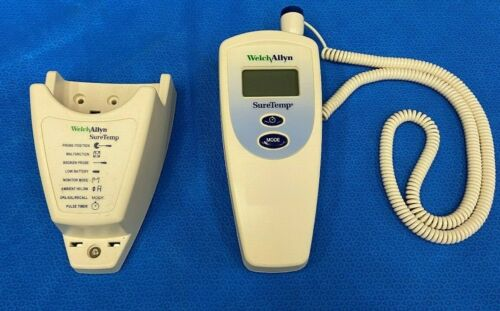 Welch Allyn 678 Sure Temp Thermometer with wall bracket and probe covers