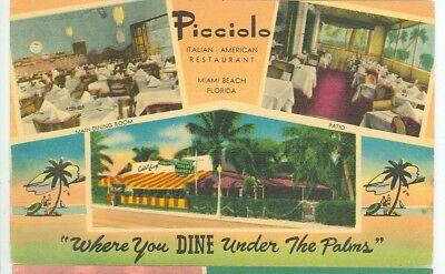 MIAMI BEACH, FLORIDA-PICCIOLO RESTAURANT-3VIEWS--136 COLLINS-LINEN-(FLBOX-819)