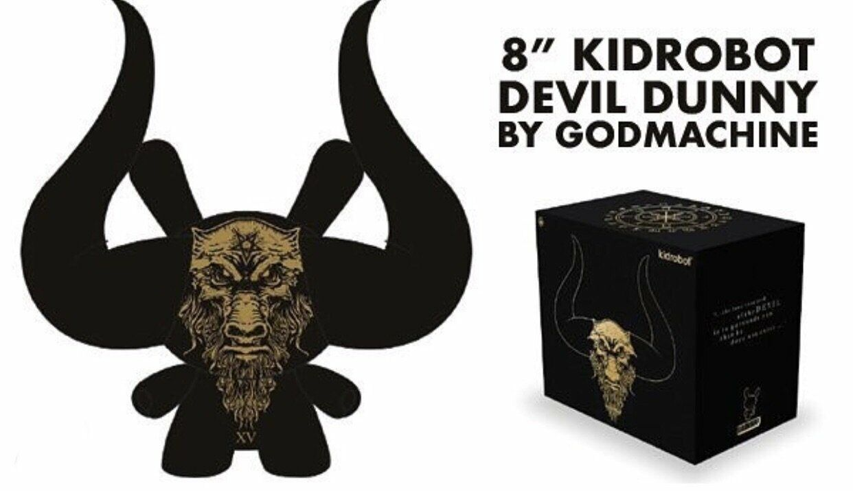 "Arcane Divination The Black Devil 10/"" Dunny Vinyl Art by Godmachine x Kidrobot"