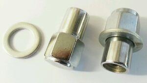 16 Sleeved wheelnuts wheel nuts 3/8