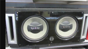 "^** 2 12"" INFINITY SUBS WITH ALPINE MRP M500 AMP!"