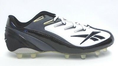 50f875ad2d0 Reebok NFL 4 Speed III Low Black and White Football Cleats - Size 12