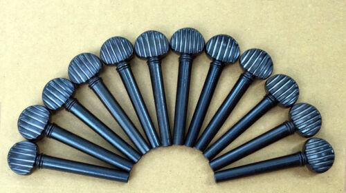 Oud Pegs GRIPE Models Ebony A quality 55/9/7 mm 12 pcs Lot