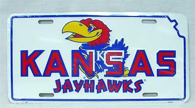 Kansas Jayhawks License Plate Car Truck Tag Basketball Football Ncaa Man Cave