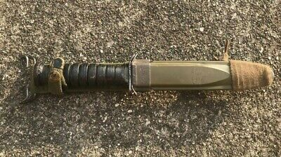 Original WWII U.S. M3 Trench Fighting Knife Camillius Blade Marked