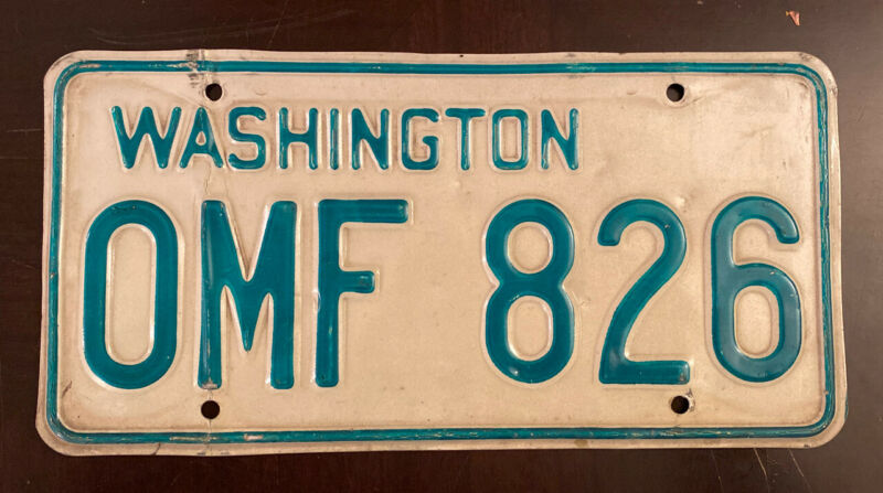 1968-1982 Washington Passenger Vehicle License Plate Single YOM Legal