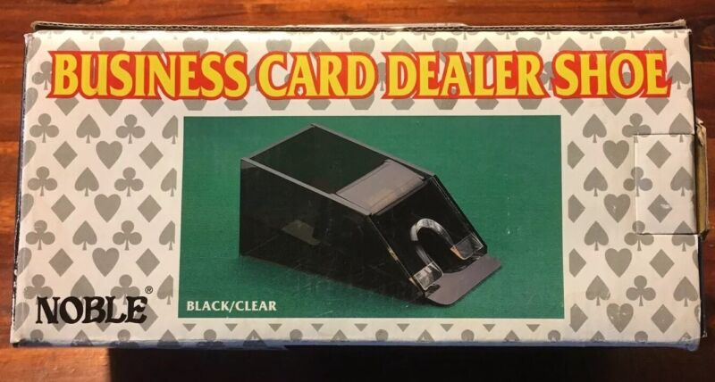 Noble Busness Card Dealer Shoe Black/Clear