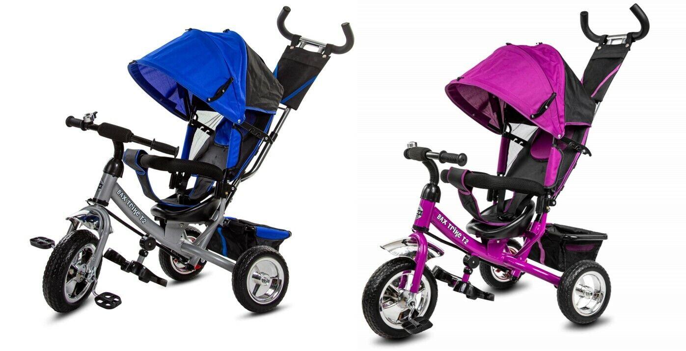 B-WARE Dreirad Trike BAX T2 Schiebe- und Lenkstange Sonnendach Schieben Lenken
