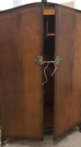 LARGE FLAME MAGHONY  ARMOIRE BUTILEX