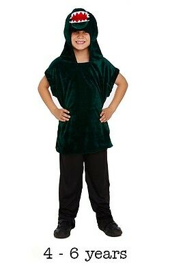 Boys Girls Crocodile Alligator Peter Pan Book Day Fancy Dress Costume 4 - 6 - Peter Pan Crocodile Costume