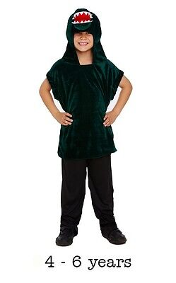 Boys Girls Crocodile Alligator Peter Pan Book Day Fancy Dress Costume 4 - 6 - Peter Pan Crocodile Costume