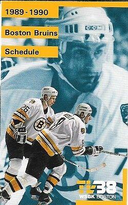 1989-90 NHL HOCKEY SCHEDULE - BOSTON BRUINS Boston Bruins Hockey Schedule