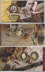 2005 90th Anniv.Anzac/Gallipoli $1 Proof Carded 2xCoin Set.AUS-NZ Wembley Cambridge Area Preview