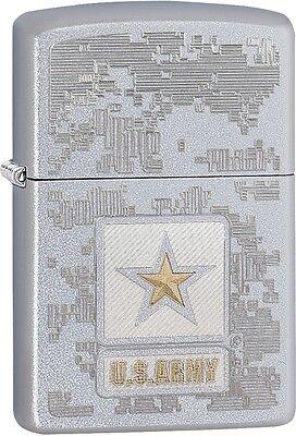 Zippo United States US Army Digi Camo Pattern Satin Chrome Lighter NEW 29388