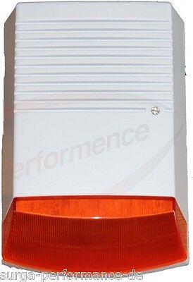Batteriebetriebene Attrappe Sirene Dummy m. Blinkfunktion IP44 f. Syrene