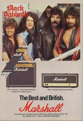 Black Sabbath International Musician Trade Press Advert