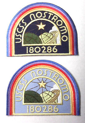 """ALIEN Movie-USSC Nostromo Officer & Enlisted DELUXE Embroider 4"""" Patch Set of 2"""