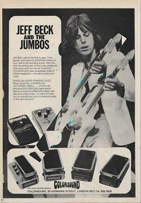 Jeff Beck International Musician Trade Press Advert #2 EFGH