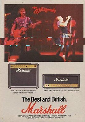 Whitesnake International Musician Trade Press Advert