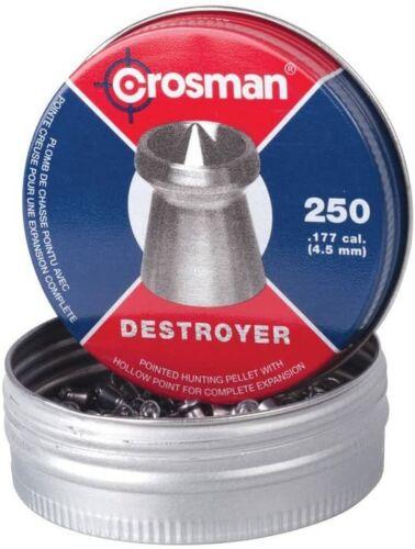 CROSMAN 250 Count DESTROYER Pointed Dished Rim .177 Hunting Target Pellets DS177