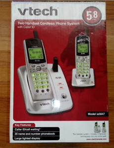 VTech 2 handset cordless phone system with caller id