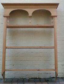 Attractive pine wall display shelving
