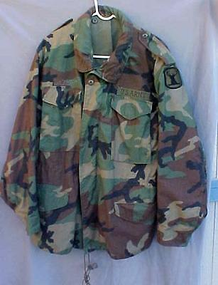 US Military Cold Weather Woodland CAMO Jacket / Coat Hood Large Regular