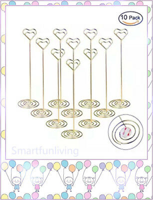 10Pcs Table Number Card Holders Table Picture Photo Memo Holder, Wedding Party