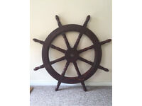 Large Wooden Ships Wheel 40inch diameter - 8 spokes