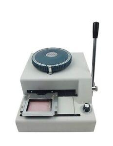 Wonder WSDM-70C Model Manual Code PVC Card Embossing Machine Printer
