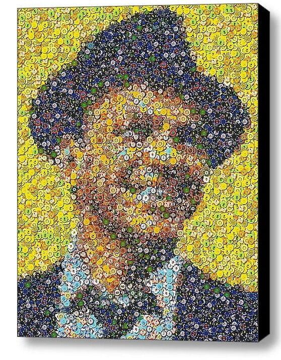 LIMITED Framed Frank Sinatra Las Vegas Casino Poker Chip mosaic print w/COA