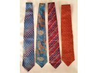 4 Designer Silk Ties - All New