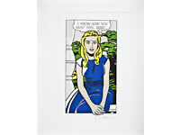 ROY LICHTENSTEIN - 'I know how...' - rare limited edition lithograph - c1981 - custom framed