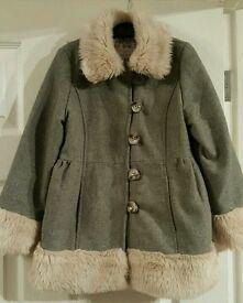 Girls winter coat age 6/7 years