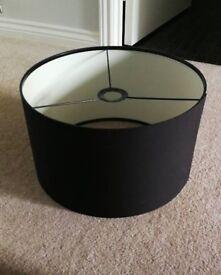 Dark brown lampshade