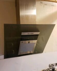Stainless steel and glass cooker hood