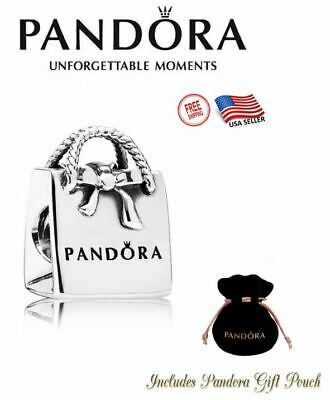 New Authentic S925 Sterling Silver Pandora Bracelet Charm Shopping Bag 791184
