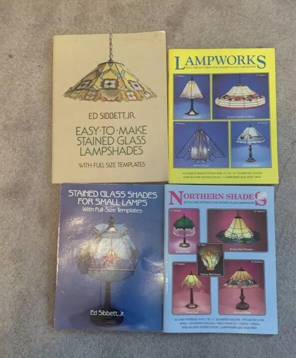 Lot Of 4, Stained Glass LAMP Pattern Books, Pre-owned
