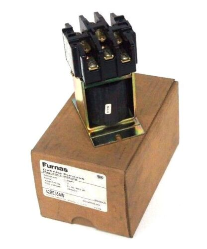 NIB FURNAS 42BE35AW MAGNETIC CONTACTOR 3 POLE, FL 30 RES 40, 250VDC