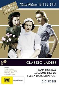 Classic Matinee Triple Bill - Classic Ladies (DVD, 2010, 3-Disc Set)