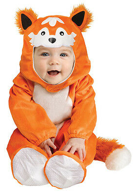BOYS GIRLS KIDS TODDLER BABY FOX CUB FANCY DRESS UP COSTUME OUTFIT NEW 12-24 - Toddler Boy Fox Kostüm